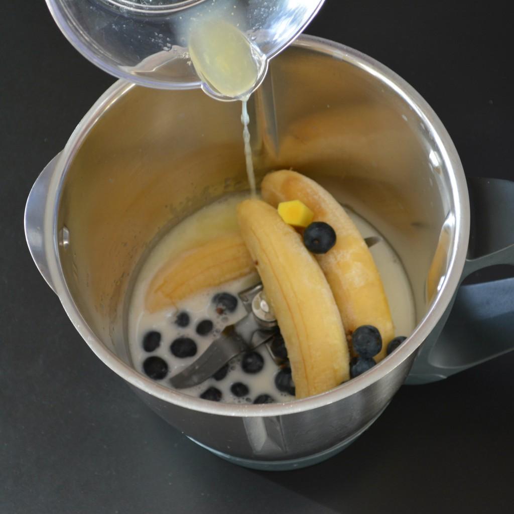 preparación smoothie